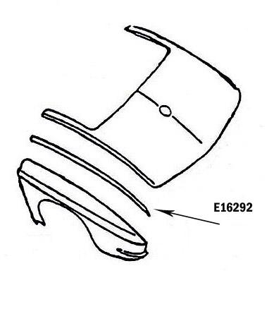 Corvette Bonding Strip Rear Fender Upper Press Molded Gray