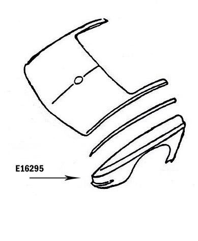 Corvette Fender Rear Press Molded White Right 63 65 ( #