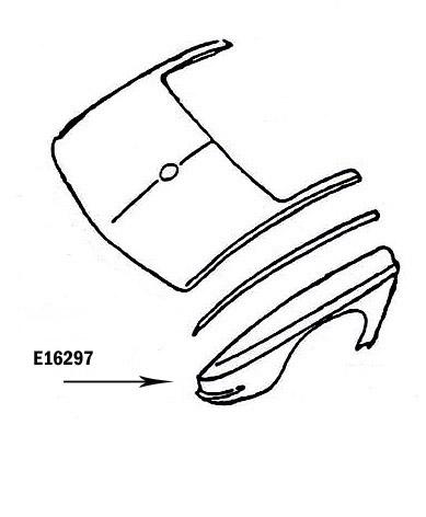 Corvette Fender Rear Press Molded Gray Right 65 66 ( #