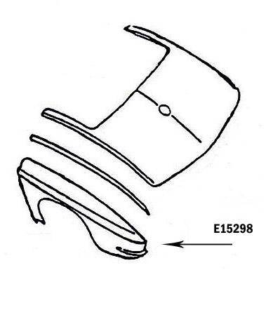 Corvette Fender Rear Press Molded Gray Left 65 66 ( #