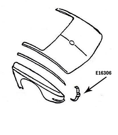 Corvette Bonding Strip Taillamp Vertical Press Molded