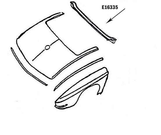 Corvette Support Rear Upper Panel Convertible Press Molded