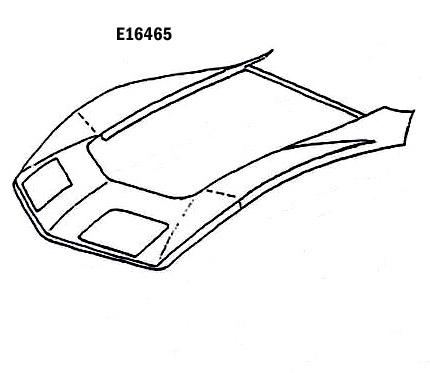 Corvette Hood Surround With Steel Press Molded Black 68 72