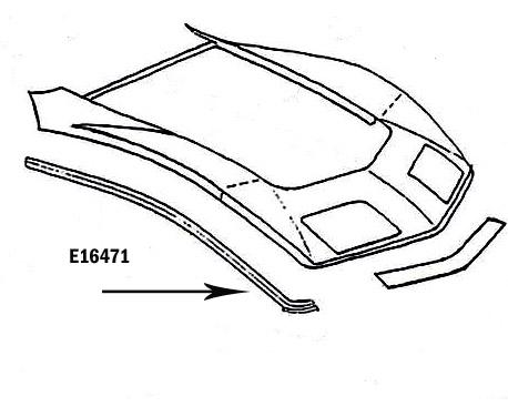 Corvette Bonding Strip Fender Front Upper Press Molded