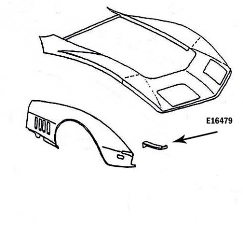 Corvette Bonding Strip Panel Front Lower Press Molded