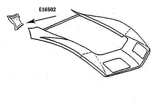 Corvette Panel Cowl Top Bonding Press Molded Black Right