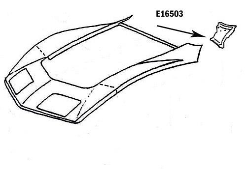 Corvette Panel Cowl Top Bonding Press Molded Black Left
