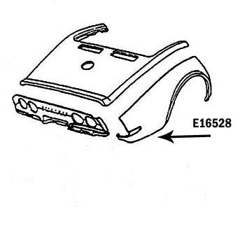 Corvette Fender Rear Press Molded Black Right 70 72 ( #