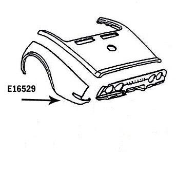 Corvette Fender Rear Press Molded Black Left 70 72 ( #