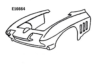 Corvette Front End Assembly Hand Layup 65 66 ( #E16664