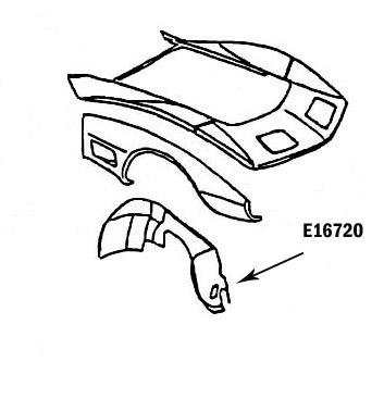 Corvette Skirt Inner Hand Layup Right Hand 73 79 ( #E16720