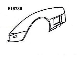 Corvette Fender Front Hand Layup Left Hand 70 72 ( #E16739