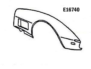 Corvette Fender Front Hand Layup Right Hand 70 72 ( #