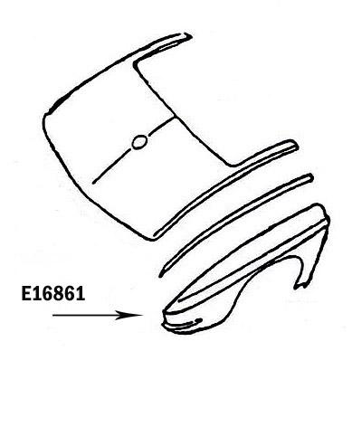 Corvette Fender Rear Hand Layup Right 63 67 ( #E16861