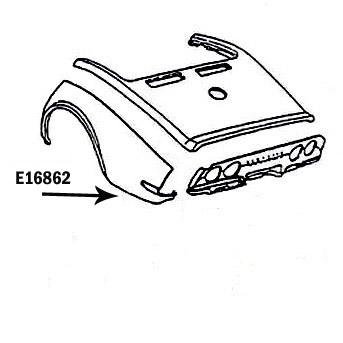 Corvette Fender Rear Hand Layup Left 68 69 ( #E16862