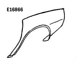 Corvette Fender Rear Hand Layup Left 74 82 ( #E16866
