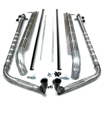 Corvette Exhaust System Side Aluminized 2 Inch Small Block