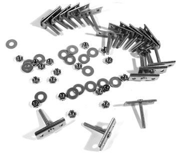 Corvette Retainer Set Bumper Stainless Steel 18 Pieces