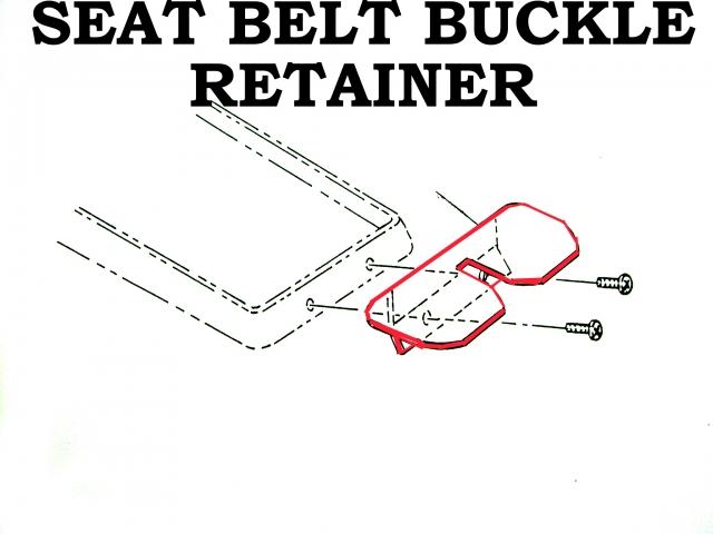 Corvette Retainer Seat Belt Buckle No Holes Import 64 66e