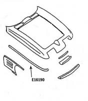 Corvette Bonding Strip Upper Fender Press Molded Gray