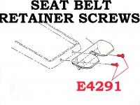 Corvette Screw Set Seat Belt Retainer On Console 2 Pieces