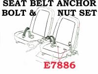 Corvette Bolt Set Seat Belt Anchor 2 Pieces 65 68 ( #E7886