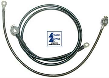 1-20676 66-67 Battery Cables. 327 & 427 W/Air Conditioning