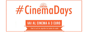 Cinemadays 2016, ritorna il cinema a 3 euro