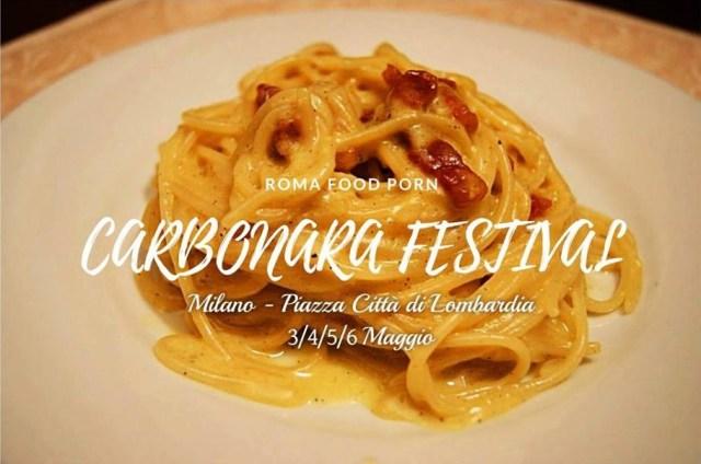 Carbonara Festival in Piazza Lombardia a Milano