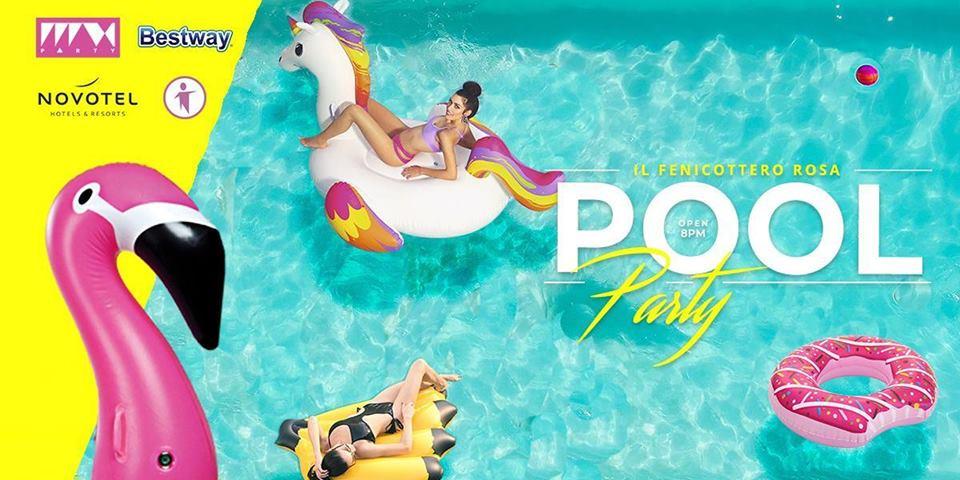 POOL PARTY – Fenicottero rosa
