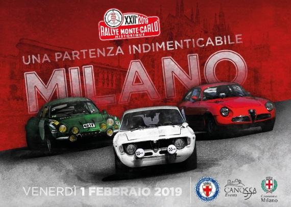 Rally Storico di Montecarlo a Milano 2019