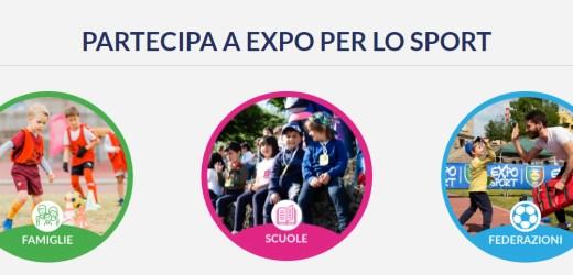 Expo per lo sport 2021 – L'evento dedicato a bambini e ragazzi dai 5 ai 14 anni