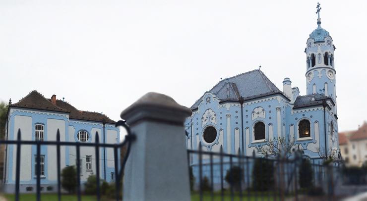 Art nouveau_Iglesia azul_panomarica