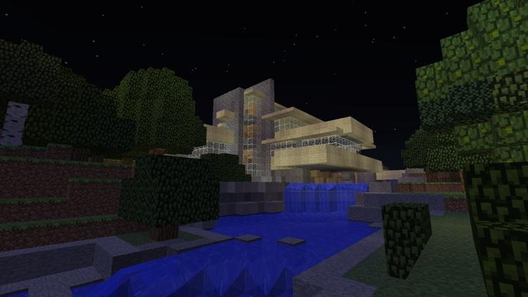 La Casa de la Cascada la Casa Farnsworth y la Villa Savoye recreados en Minecraft  ARKIIDIS