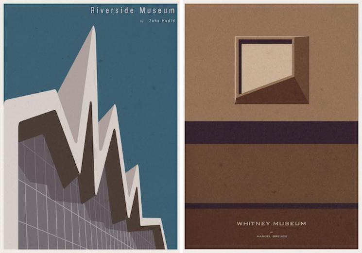 Posters de arquitectura por Andr Chiote
