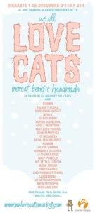 Cartel del mercadillo solidario We Love Cats Market