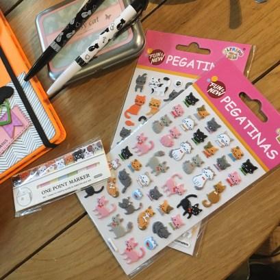 Pegatinas y marcadores sorteo Cosas de Gatos