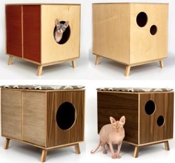 Bandeja sanitaria de diseño diferente: cajas de madera