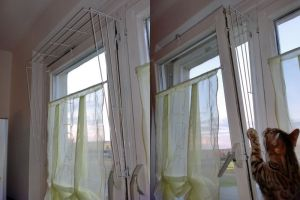 Reja a incorporar en las ventanas abatibles para proteger a los gatos