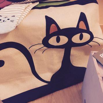 Sorteo Cosas de Gatos: funda de cojín con gato dibujado