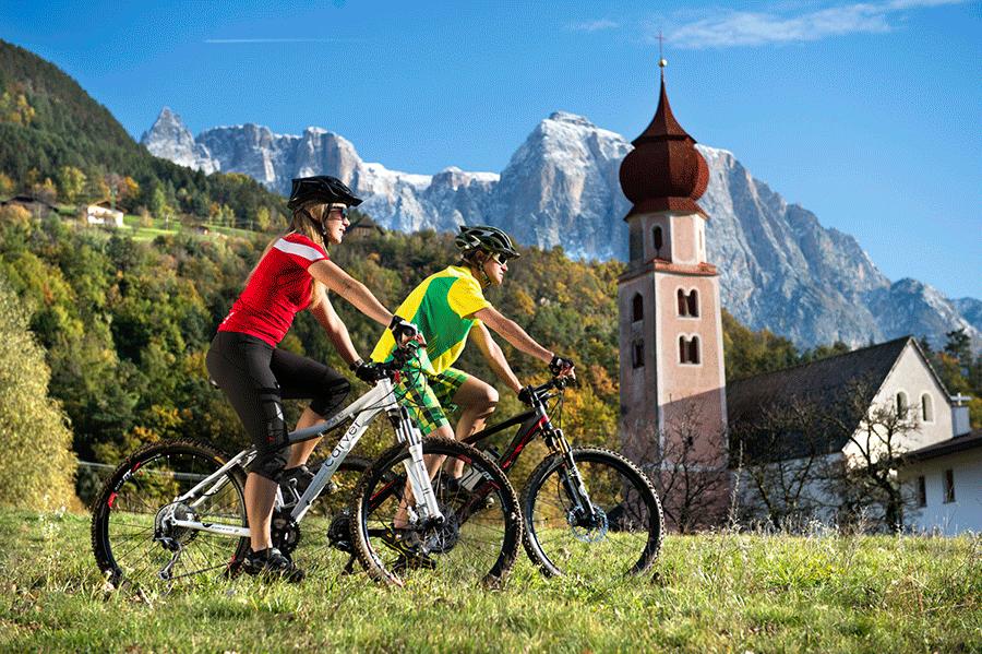 Mountainbike-a-Castelrotto-alpe-di-siusi-hotel-lamm