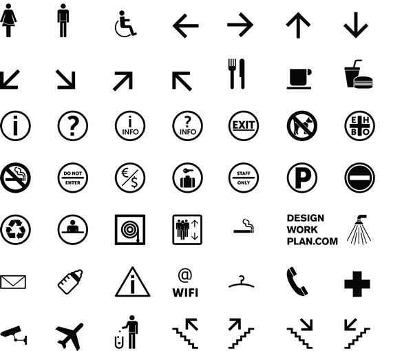 8 conjuntos de pictogramas y símbolos gratuitos