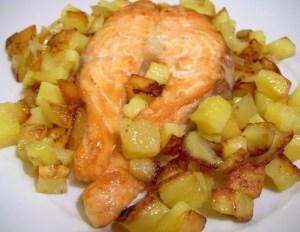 Salmone al forno con Patate