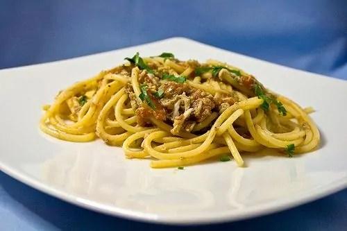 spaghetti con i bianchetti