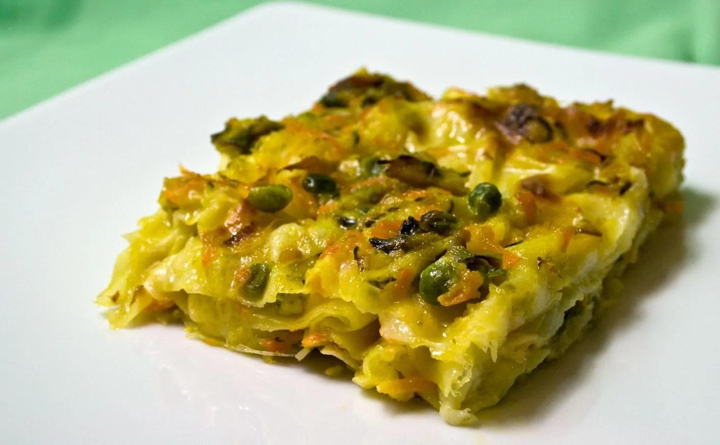 Lasagne con Pasticcio di verdure alla mozzarella di Bufala