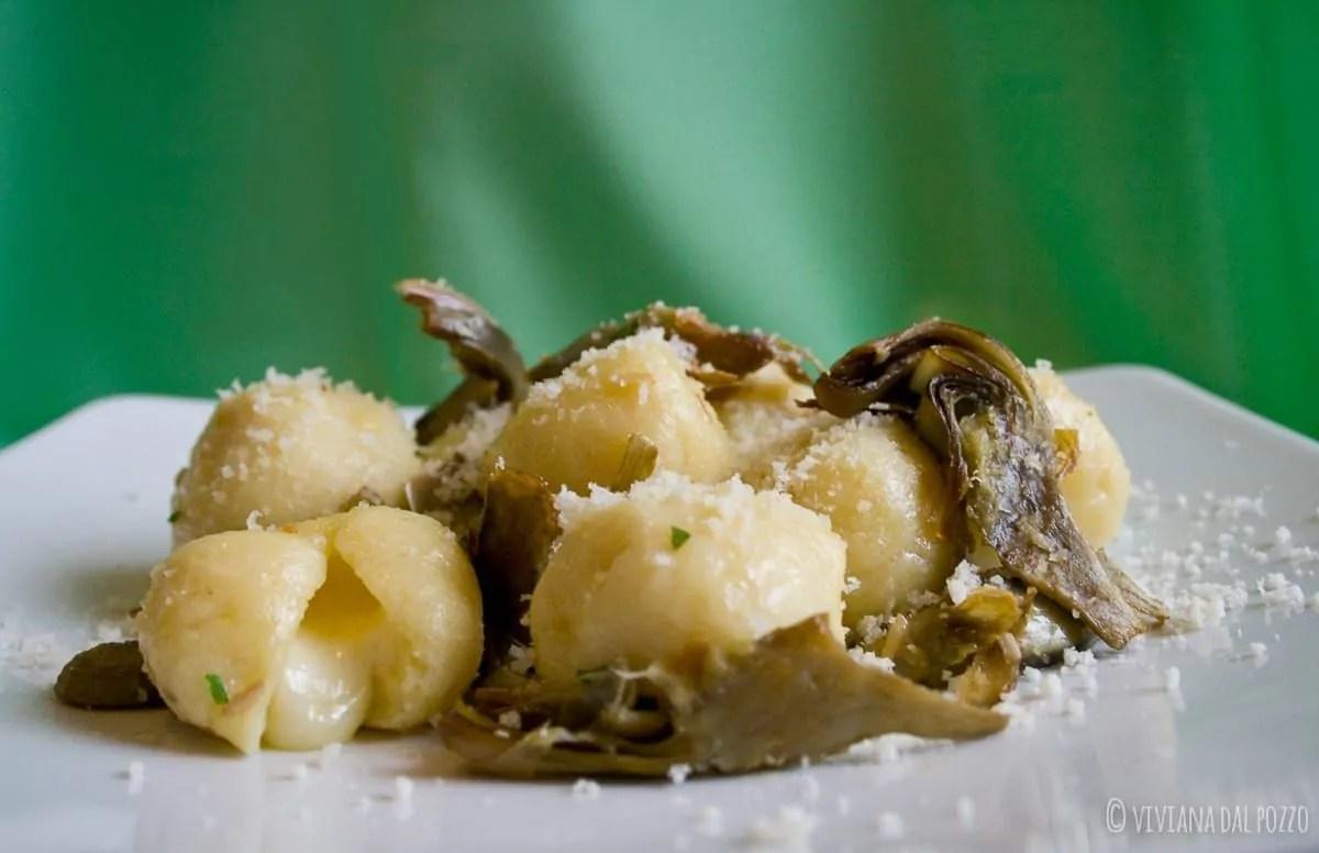 Gnocchi ripieni con carciofi, una ricetta per il Venerdì Gnocolar!!!