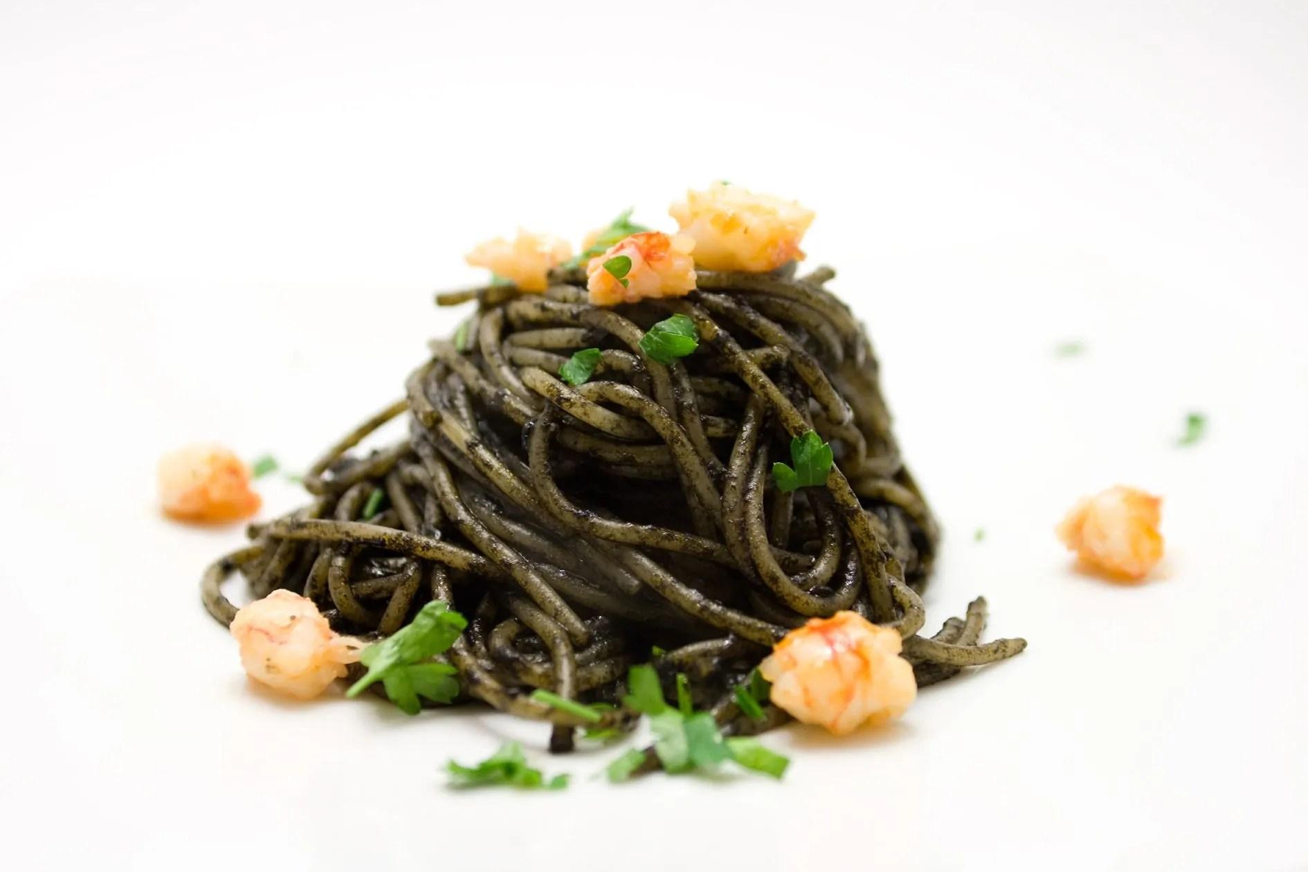 Gli spaghetti al nero di Seppia