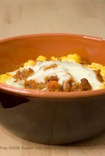 polenta con salsiccia al forno