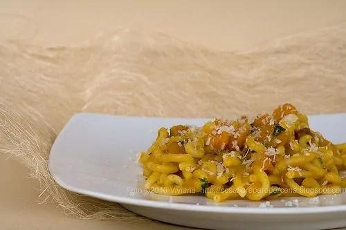 La pasta con Zucca e Pancetta e Buon anno :))))