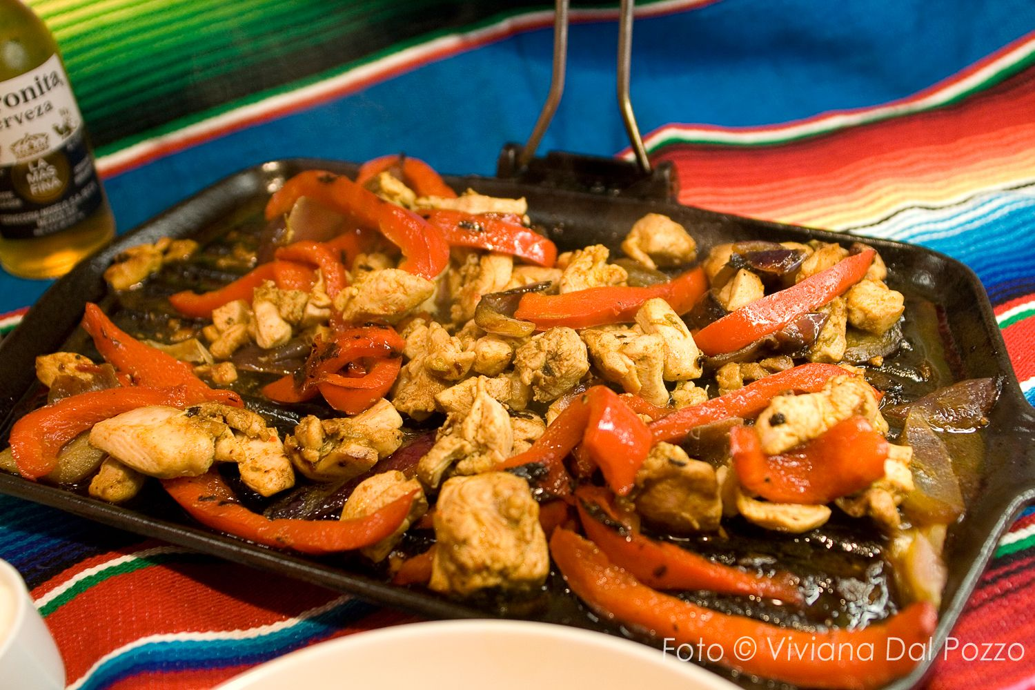 Fajitas di pollo step by step